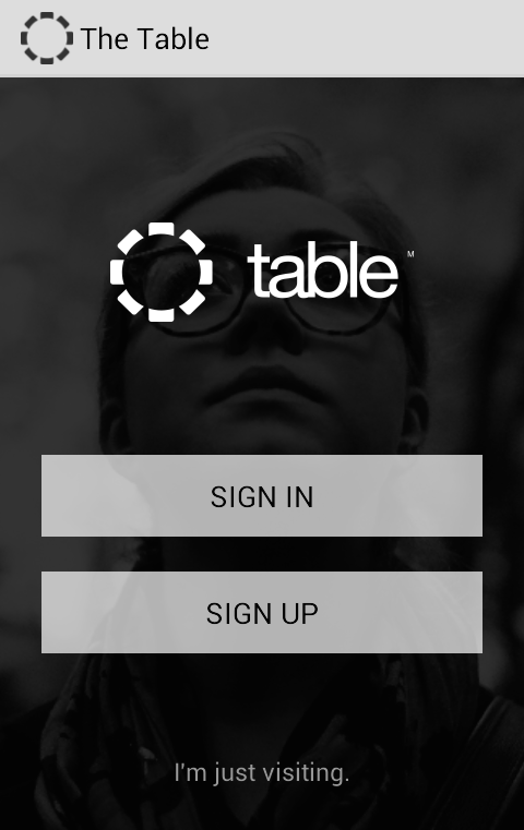 Sign In/Sign Up Screen